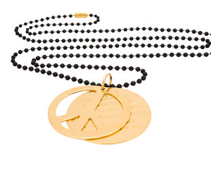 peace necklace, peace sign necklace, and peace jewelry image