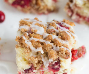 cake, cranberry, and desserts image