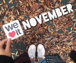 november, autumn, and we heart it image