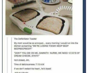 funny, lol, and toast image