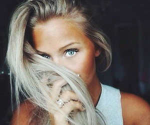 girl, eyes, and blonde image