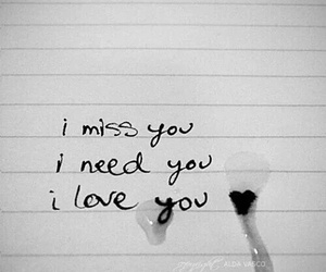 love, miss, and need image