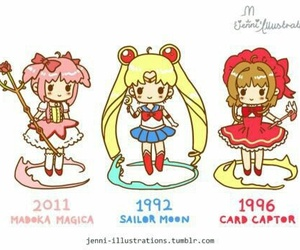 sailor moon, anime, and madoka magica image