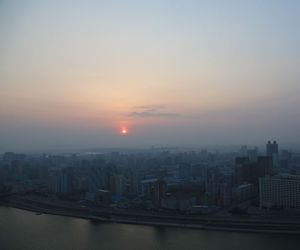 evening, ghost town, and Pyongyang image