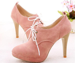 girl, pink, and shoes image