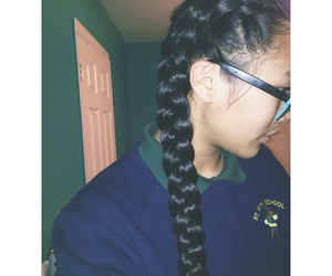 braid, frenchbraid, and longhair image