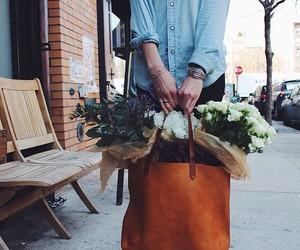 flowers, bag, and vintage image
