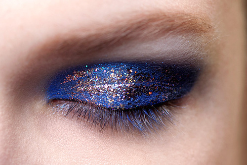 makeup, fashion, and blue image