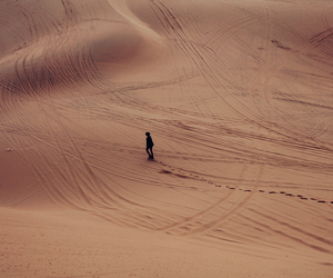desert, alone, and nature image