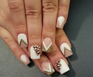 beige, nails, and white image