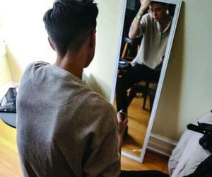tomboy, haircut, and mirror image