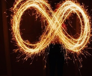 infinity, light, and light painting image