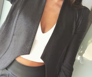 black and white, blazer, and business image