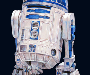 art, blue, and droid image