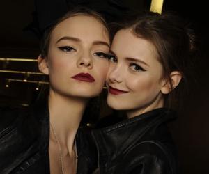 model, black, and make up image