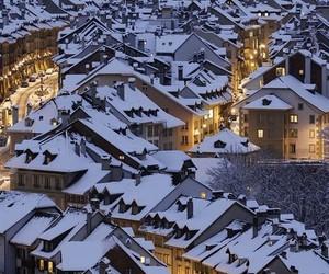 snow, winter, and switzerland image