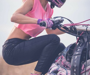 lady, moto, and pink image