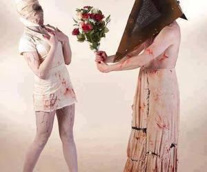 silent hill, pyramid head, and nurse image