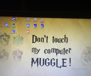 background, computer, and harrypotter image