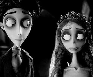 corpse bride, tim burton, and black and white image