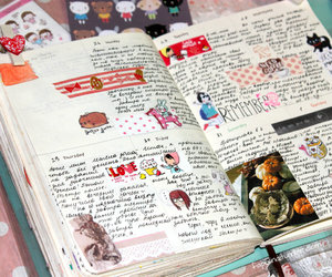 diary, planner, and artjournal image