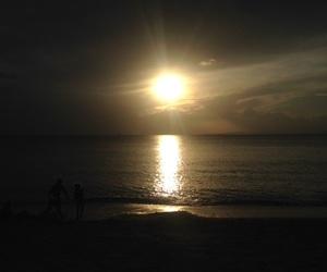 beach, sun, and Island image