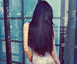 dress, girl, and hair image
