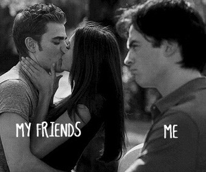 funny, kiss, and tvd image