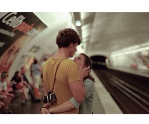 city, couple, and train image