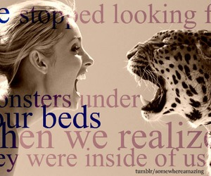bed, look, and affraid image