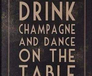 party, champagne, and dance image
