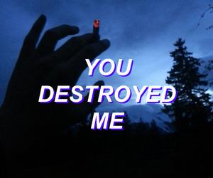 cigarette, destroy, and smoke image