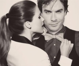 ian somerhalder, the vampire diaries, and Nina Dobrev image