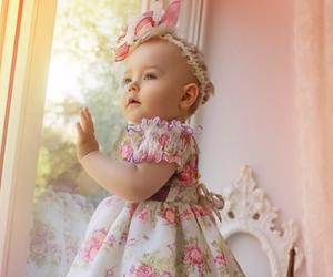window, baby girl, and photo. image