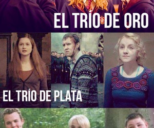 harry potter, trio de oro, and trío de plata image