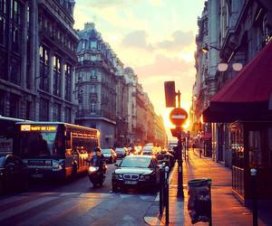 city, beautiful, and sunset image