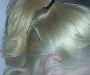 hair, blonde, and pale image