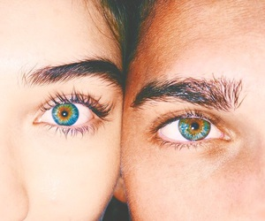 blue eyes, couple, and couples image