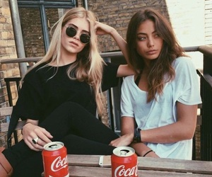 girl, friends, and model image