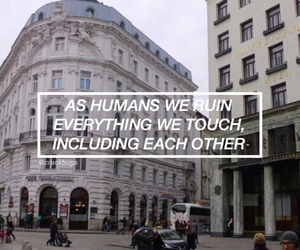 quote, humans, and sad image