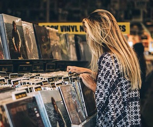 girl, music, and indie image