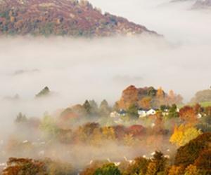 cumbria, england, and autumn. fog image