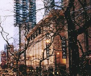 light, city, and christmas image