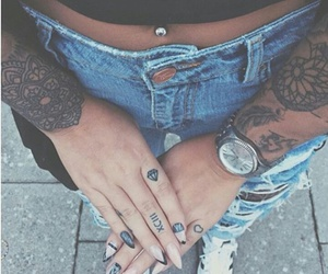 tattoo, watch, and love image