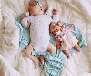 cute, baby, and sleep image