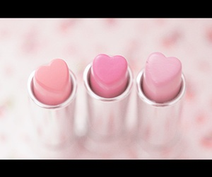 heart, pink, and lipstick image