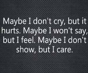 hurt, cry, and quote image