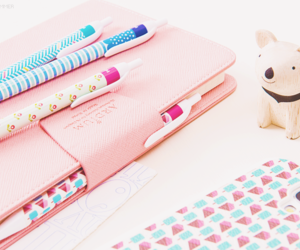 pink, cute, and stationary image