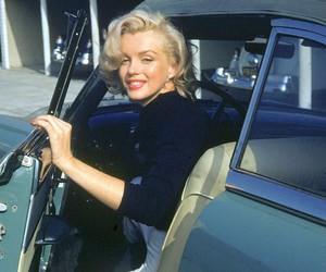 Marilyn Monroe, vintage, and car image