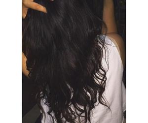 black, hair, and brunette image